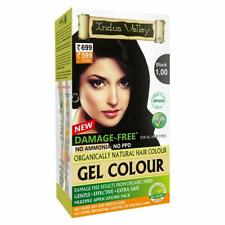 Indus Valley Organic Natural Gel Hair Color No PPD No Ammonia Black 1.0