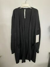 Lululemon XL Sincerely Yours Wrap Sweater Tunic Charcoal Gray NWT $158