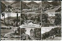 """Ansichtskarte Kurort Sieber/Harz """"Adlerskopf, Sieberblick, Schwimmbad, Cafe"""" s/w"""