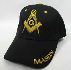 Wholesale Lot of 12 Masonic Freemason Mason Lodge Ball Caps Hats Black C-Store