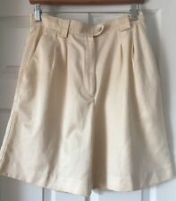 Golf Shorts by Tail Size 10 Microfiber Pale Yellow Water Repellant Cool Dry