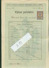 2 Zeugnisse Ludmila Klimova 1907-1911 Lyceum Vesny v Brne Mähren Tschechien