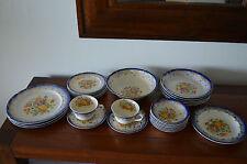 VTG.Paden City Art Deco Flower Gold Service Dinnerware American Porcelain