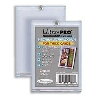 (10) Ultra Pro 1-Screw EXTRA THICK Card Screwdown Holders 100pt JERSEY PATCH