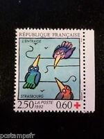 FRANCE 1992 timbre 2783, croix rouge, oiseaux, neuf**