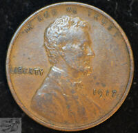 1917 P Lincoln Wheat Cent, Penny, Extremely Fine Condition, Free Ship C4857