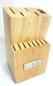 Cuisinart 13-Slot Triple Rivet Cutlery Wooden Knife Block Storage Organizer