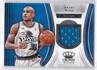2018-19 GRANT HILL JERSEY PANINI CROWN ROYALE RELIC GAME USED PISTONS