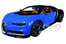 BUGATTI CHIRON FRENCH RACING BLUE & ATLANTIC BLUE 1/18 MODEL CAR AUTOART 70993