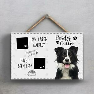 Pets & Paws - Rope Plaque Border Collie Walked and Fed