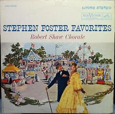 ROBERT SHAW CHORALE stephen foster song book LP VG LSC-2295 Living Stereo SD USA