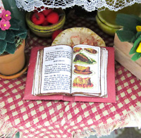 Open Book MRS BEETON'S COOKERY Cookbook #1 Miniature Dollhouse 1:12 Scale Book