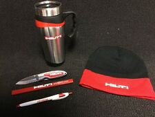 HILTI SKULL CAP, COFFEE MUG, KNIFE, PENCIL AND PEN, EXCLUSIVE, FAST SHIPPING