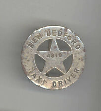 ANTIQUE NEW BEDFORD Massachusetts TAXI DRIVER Badge LICENSE Taxis AUTOMOBILIA
