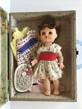 Vintage Eegee 11� Suzy Walking Doll with Carrying Case and Clothes