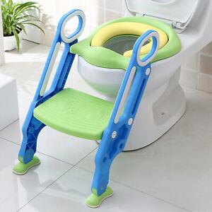 Toilettentrainer Toilettenstuhl Toilettensitz Treppe WC Sitz Leiter 1-7 Kinder