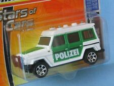 Matchbox Mercedes-Benz 280GE G Wagon Polizei Police White with Green Sides