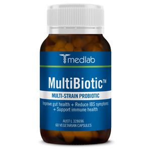 MEDLAB MultiBiotic 60 vegetarian capsules multi-strain  FREE Express Post