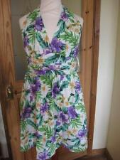 Halter Neck Casual Floral Mini Dresses for Women