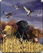 "LABRADOR DOGS & DUCKS IN MARSH Queen Soft Luxury  Bed Blanket 79"" x 96"""