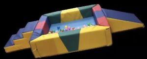 "soft play toys for kids Children's ball pool 4ftx4ftx12"" step slide 50 x60x30cm"