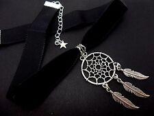 Un signore ragazze BLACK VELVET & DREAMCATCHER collana girocollo. nuovi.
