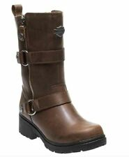 Harley Davidson Ardsley Brown Motorcycle Leather Boots Womens Size US 5 D84259