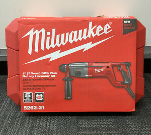 "Milwaukee 5262-21 1"" SDS Plus Rotary Hammer Kit NEW"