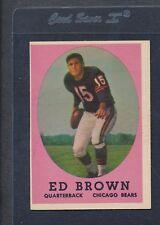 1958 Topps #123 Ed Brown Bears EX *1096