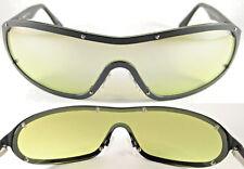 MOMO Design Uomo/Gents SUNGLASSES 7503, Pure Titanium, Black/Green