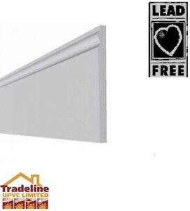 Upvc Skirting Board L/O Torus Edge White 16mm Thickness Various sizes