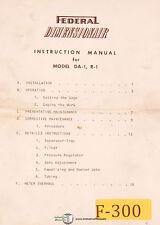 Federal Dimensionair DA-1 and R-1, Air Gage, Instructions Manual 1953