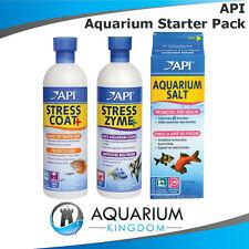 API Aquarium Starter Pack - Stress Coat & Stress Zyme 473mL & Aquarium Salt 936g