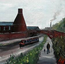 WALKER SCOTT Original Northern Vintage Industrial Stoke Pottery Art Oil Painting