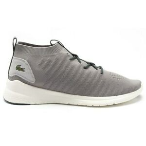 New MENS LACOSTE GRAY LT FIT FLEX TEXTILE Sneakers Running Style