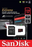 SANDISK 128GB EXTREME CLASS 10 UHS-I U3 A1 100MB/S MICRO SDXC SD XC MEMORY CARD