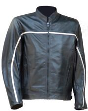 Leather Jacket Mens Trendy Premium Lamb Fashion Soft Lamb Leather Stripes Jacket