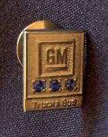 General Motors Award Pin 10k And 3 Sapphires