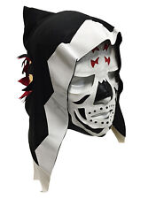 SKELETOR (pro-fit) Adult Lucha Libre Hooded Wrestling Costume Mask - White