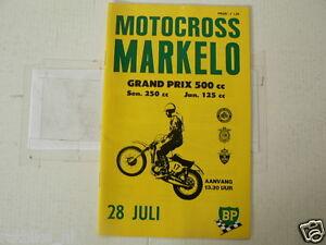 1974 GRANDPRIX 500 CC CROSS MX MARKELO PROGRAMME 28 JULI,BANKS,EASTWOOD