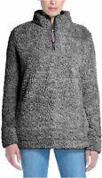 NWT Weatherproof Vintage Womens M L XL XXL Sherpa Jacket Sweater 1/4 Zip Frosty