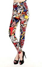 WONDER WOMAN COMIC STRIP Leggings Yoga Pants DC Comics Super Hero Fashion Spandx