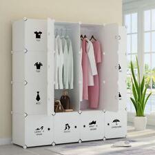Wardrobe Closets For Kids Bedroom Portable 16 Cube Organizer Clothes Garment