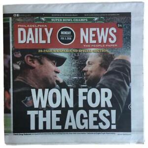 Philadelphia Eagles Feb 5 2018 Super Bowl LII Champions Daily News Full Paper