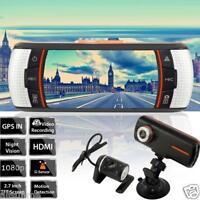 Dual Lens Car Vehicle 2.7 LCD 1080P HD Dash Camera DVR Cam Night Vision Recorder