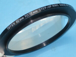 TIFFEN  Aluminum Step Up Ring 62mm - 72mm Filter Adapter Ring, 62  72   z5