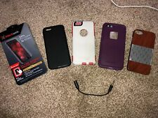 iphone 6s lot of 4 cases and glass screen protector lifeproof otter box
