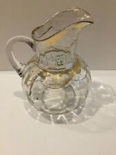 Vintage Hand Painted Glass Pitcher
