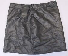 ceacf075b Boohoo Women's Matte Leather Look Mini Skirt SD8 Black Size US: 10