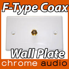 1 F Type Coaxial Wall Plate